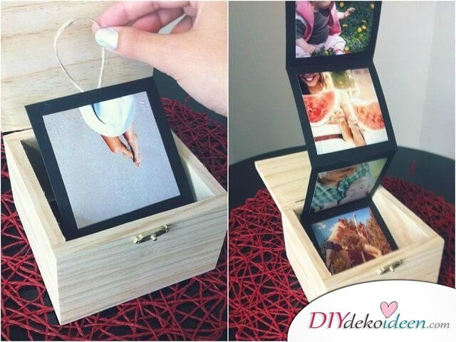 Fotoalbum zum Ausklappen - DIY Geschenk