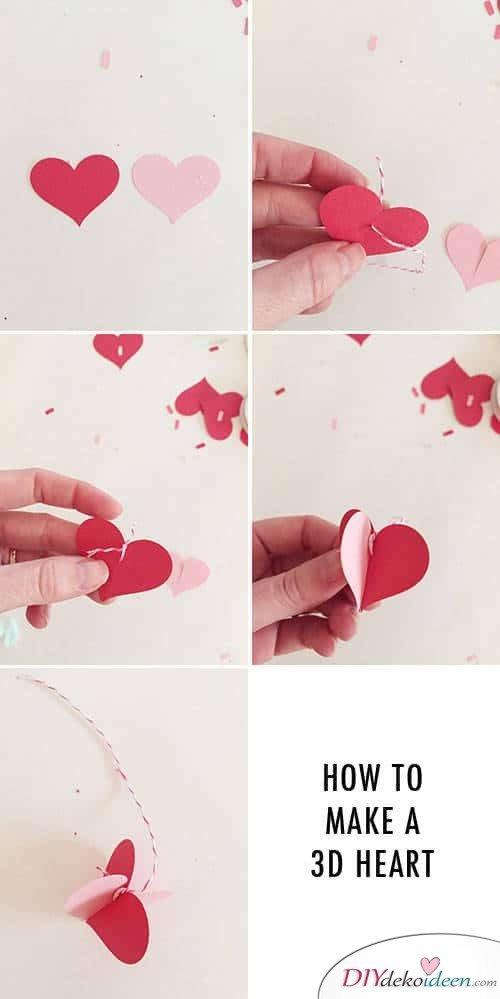 3D Herzen für einen romantischen DIY Kronleuchter