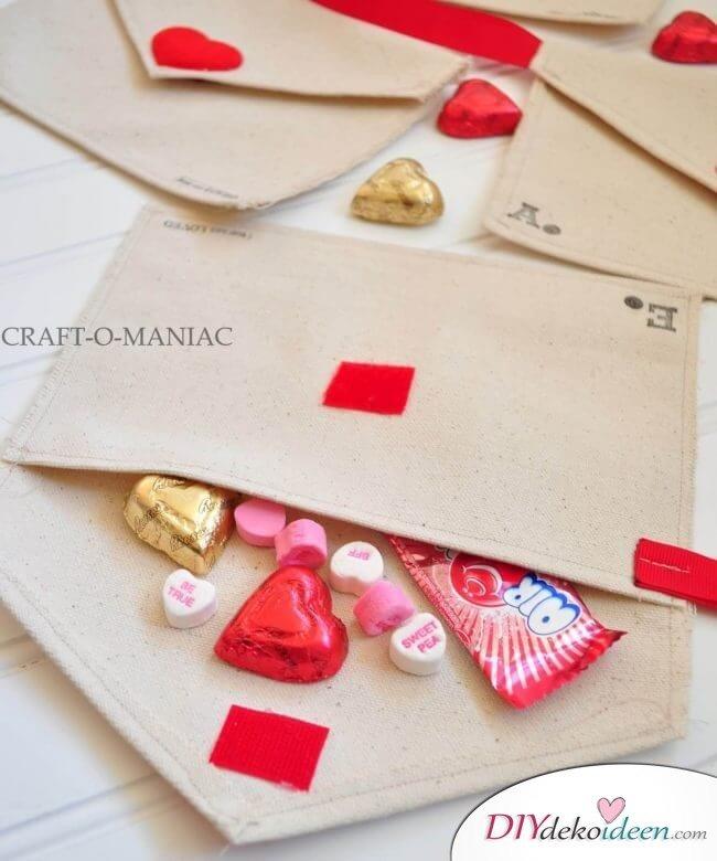 DIY Stoffbriefumschläge für den Valentinstag
