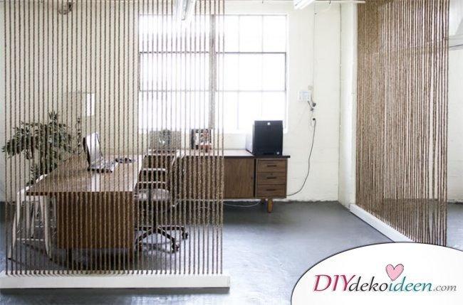 DIY Raumtrenner selber machen - naturhafte Wohnideen