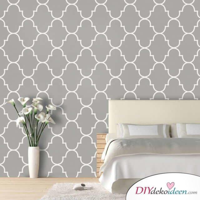 Marokkanische Deko selber machen - Grau-Weiß-Muster