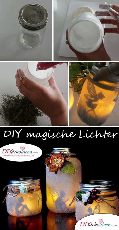 DIY Deko Ideen selber basteln mit Kerzengläsern