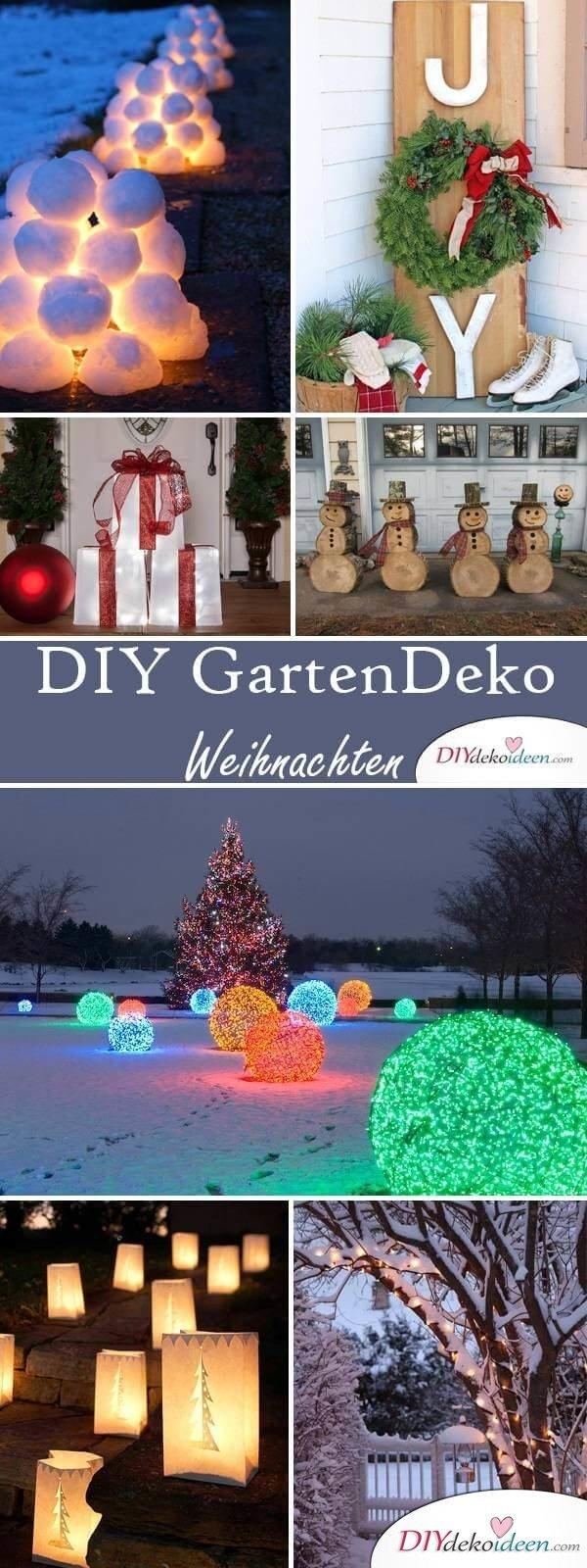 DIY Garten zu Weihnachten dekorieren - Ideen und Anleitungen