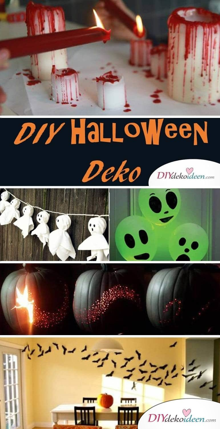 DIY Halloween Deko Ideen - Dekoration selber basteln