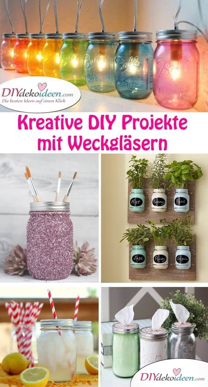 diy weckgl ser bastelideen sorgen immer f r eine berraschung. Black Bedroom Furniture Sets. Home Design Ideas