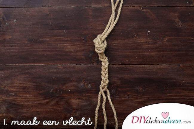 Schritt 1. Knotentechnik für Handtuchhalter