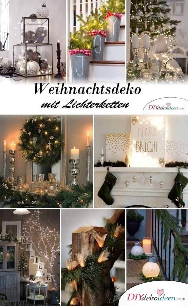 Kreative Weihnachtsdeko Ideen mit Lichterketten