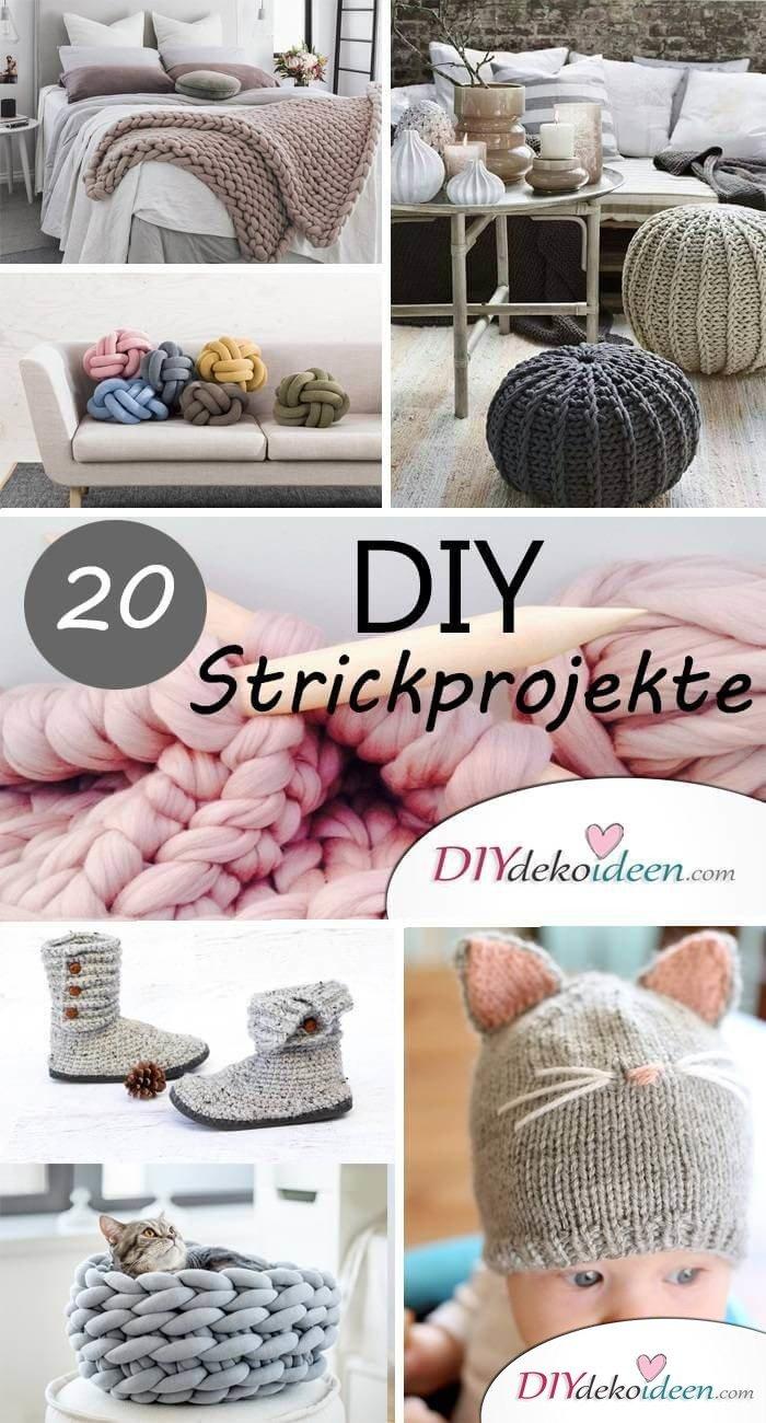 Fluffige DIY Wohnaccessoires stricken - Anleitungen für Anfänger