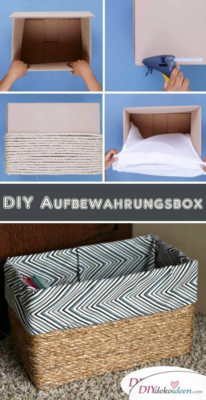 DIY Aufbewahrungsbox selber machen aus Kisten
