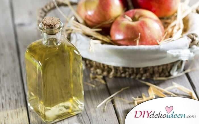 Apfelessig Haarpflege gegen fettigen Haaren - DIY Schönheitsprodukte