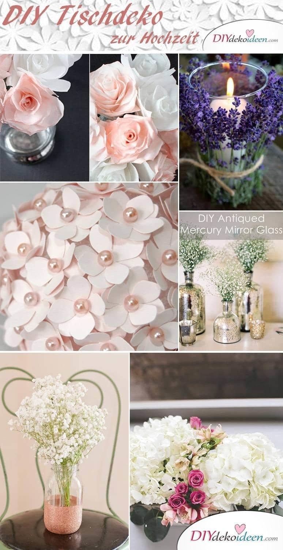 DIY Tischdeko Ideen zur Hochzeit - Deko selber machen