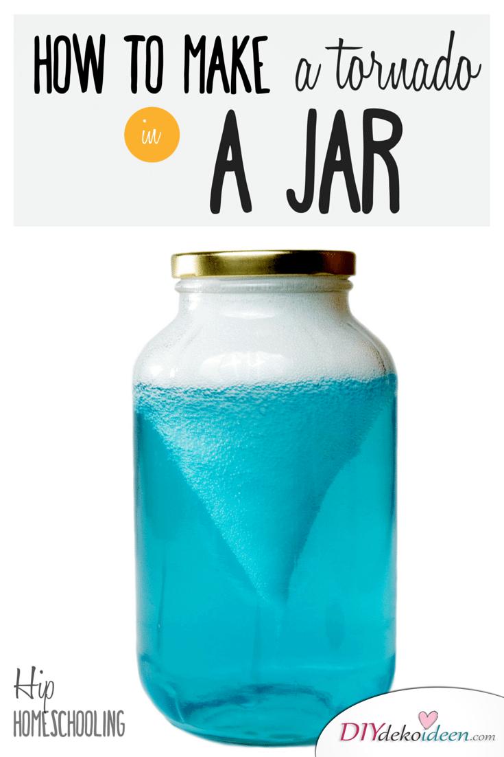 Einfache DIY Experimente mit Kindern - Tornado im Glas