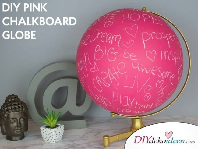 Pinker Globus Bastelidee - Geschenk zum Selbermachen
