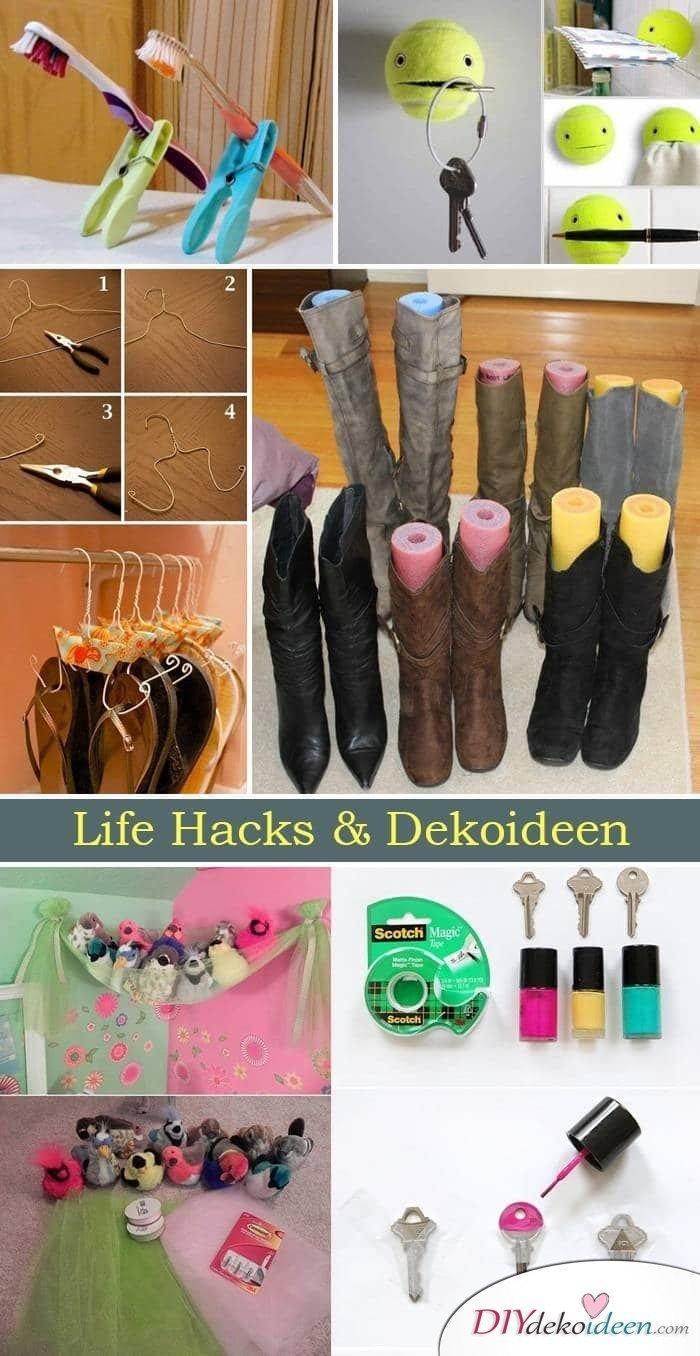 DIY Deko Ideen und Life Hacks