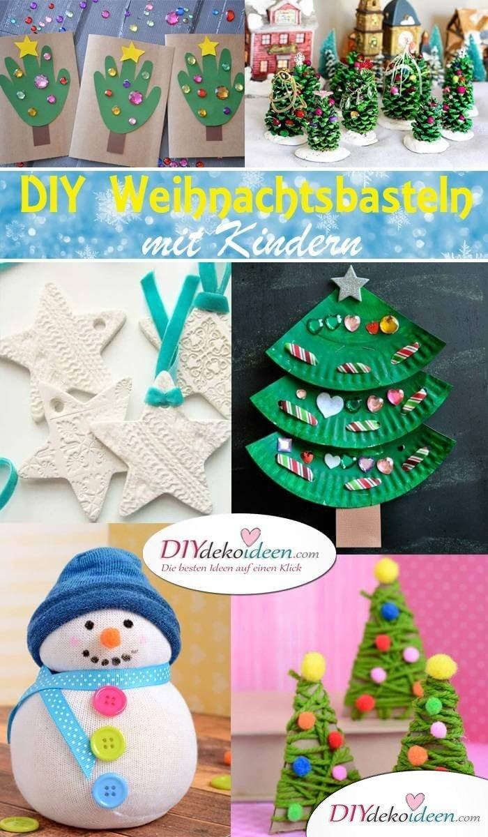 DIY Bastelideen zu Weihnachten: Weihnachtsbasteln mit Kindern