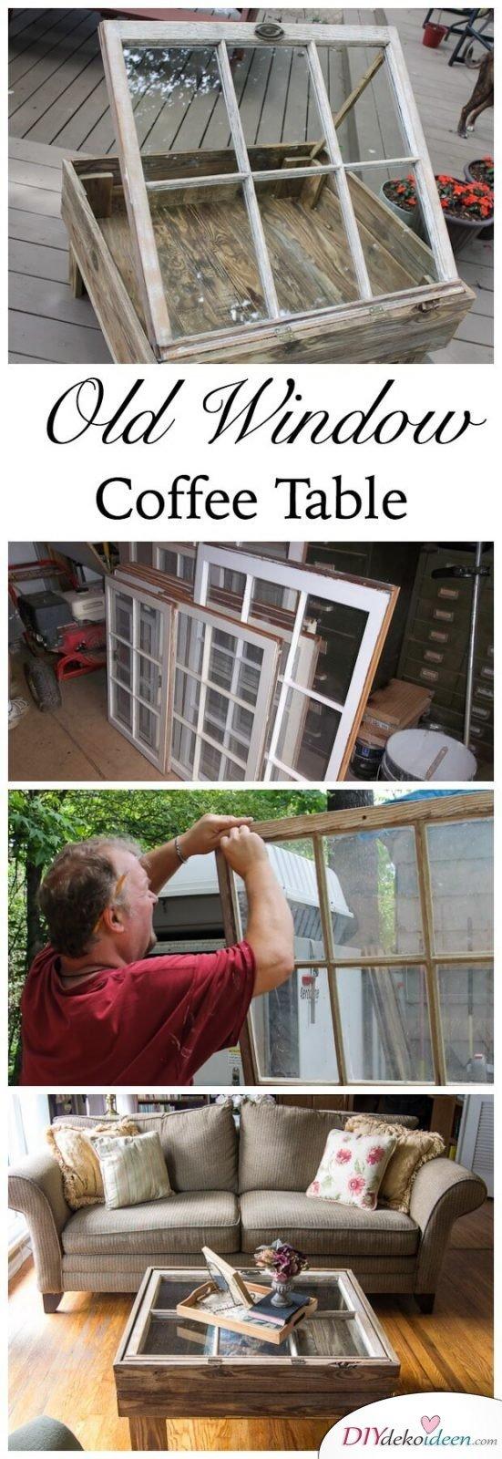 Rustikaler Kaffeetisch - DIY Bastelideen