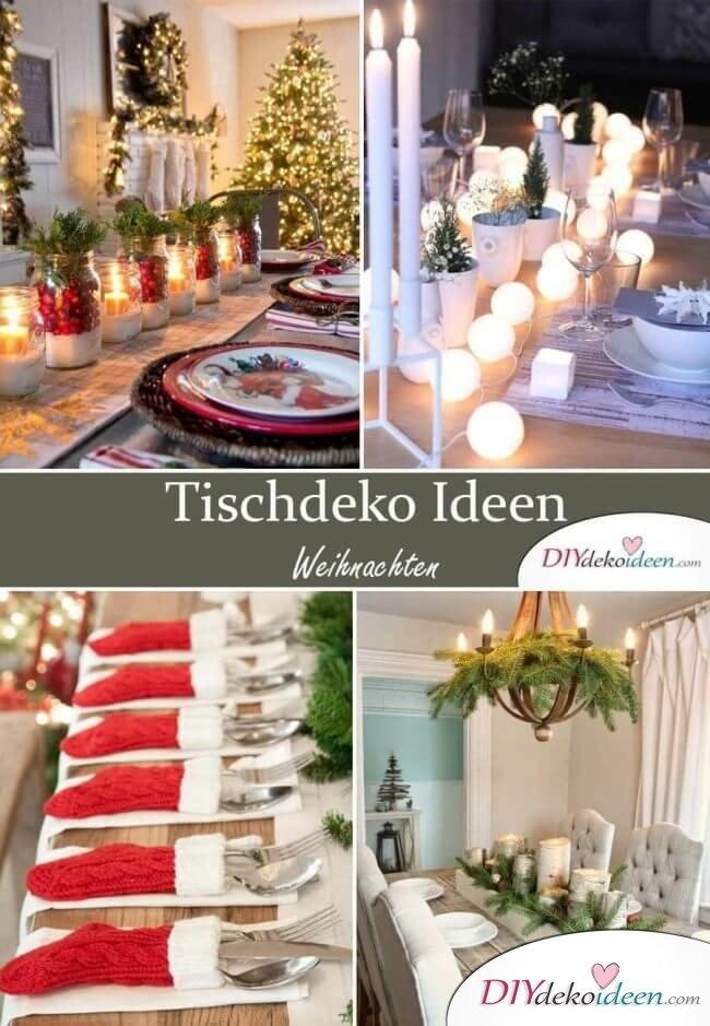 Tischdeko Ideen zu Weihnachten selber machen