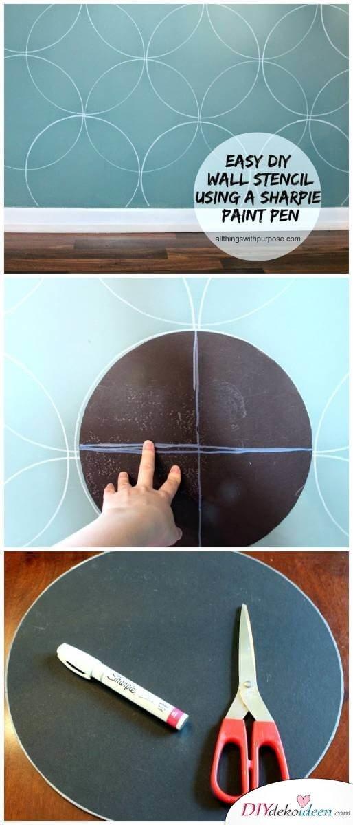 Wand selber streichen - DIY Muster