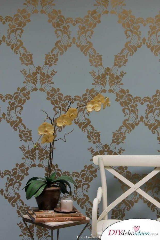 Wandschablone Design - Wand selber streichen