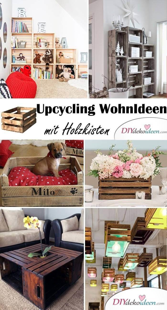 DIY Wohnideen - Möbel selber basteln aus Holzkisten
