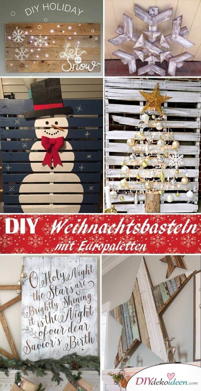 DIY Bastelideen mit Europaletten zu Weihnachten