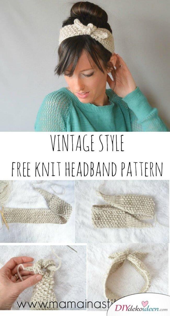 Haarband stricken - Süße Accessoires zum Selbermachen