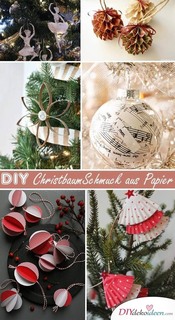 wundervolle diy weihnachtsbaum schmuck ideen aus papier. Black Bedroom Furniture Sets. Home Design Ideas