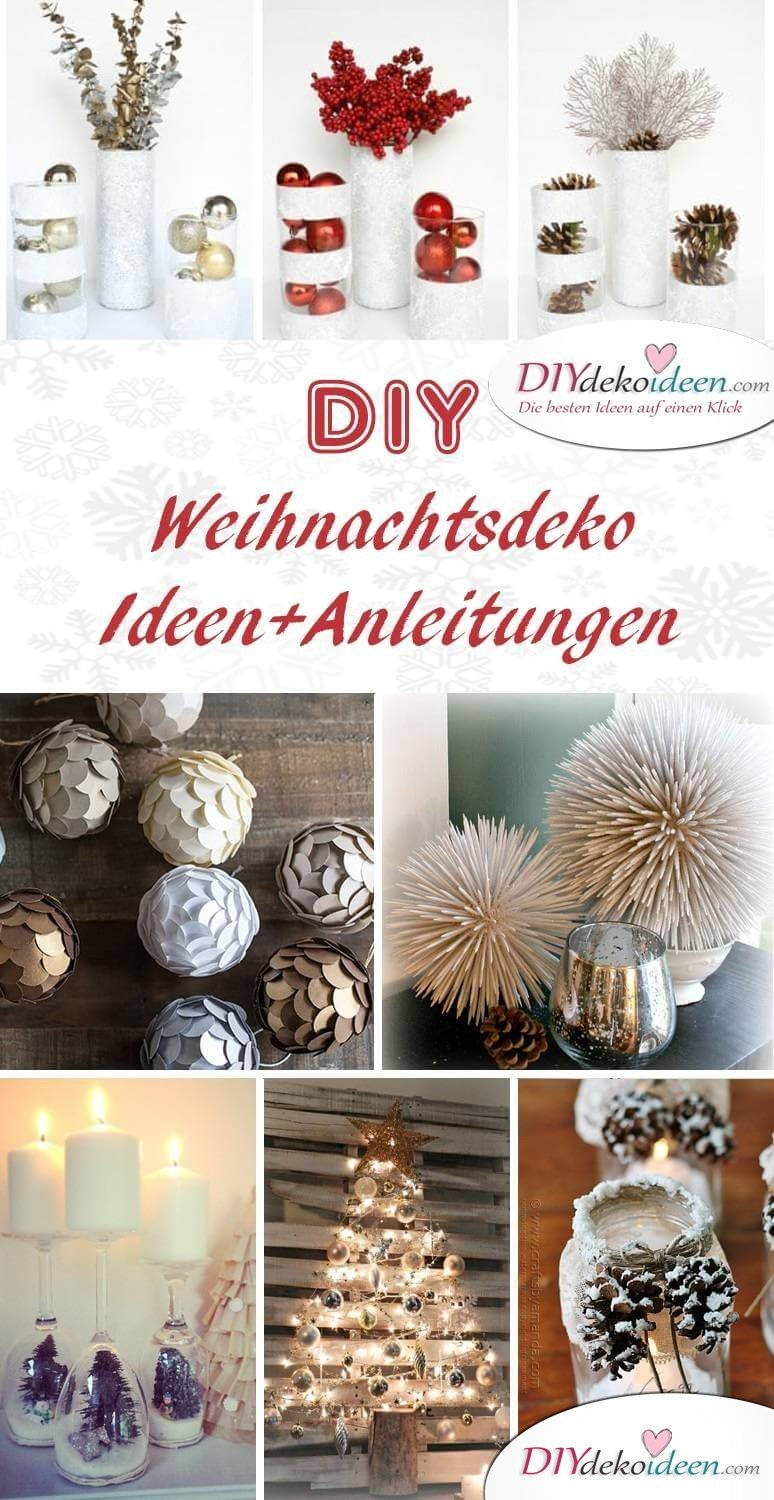 zauberhafte diy weihnachtsdeko bastelideen f r das fest. Black Bedroom Furniture Sets. Home Design Ideas
