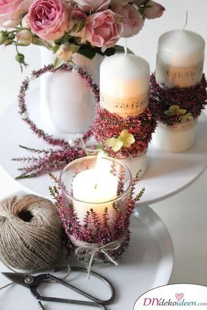 Vintage Kerzen Deko selber machen