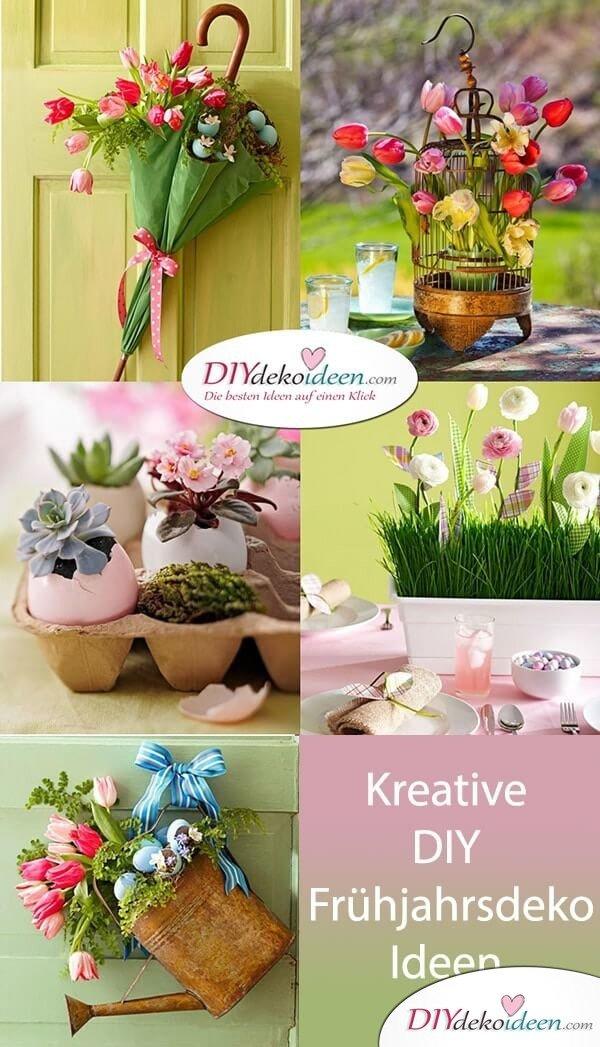 Diese kreativen DIY Frühjahrsdeko-Ideen werden dich begeistern.