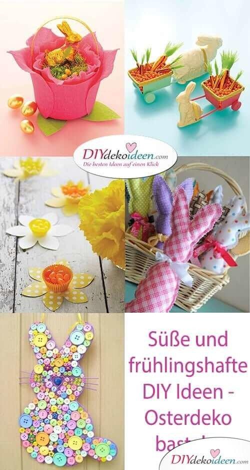 Süße und frühlingshafte DIY Ideen - Osterdeko basteln