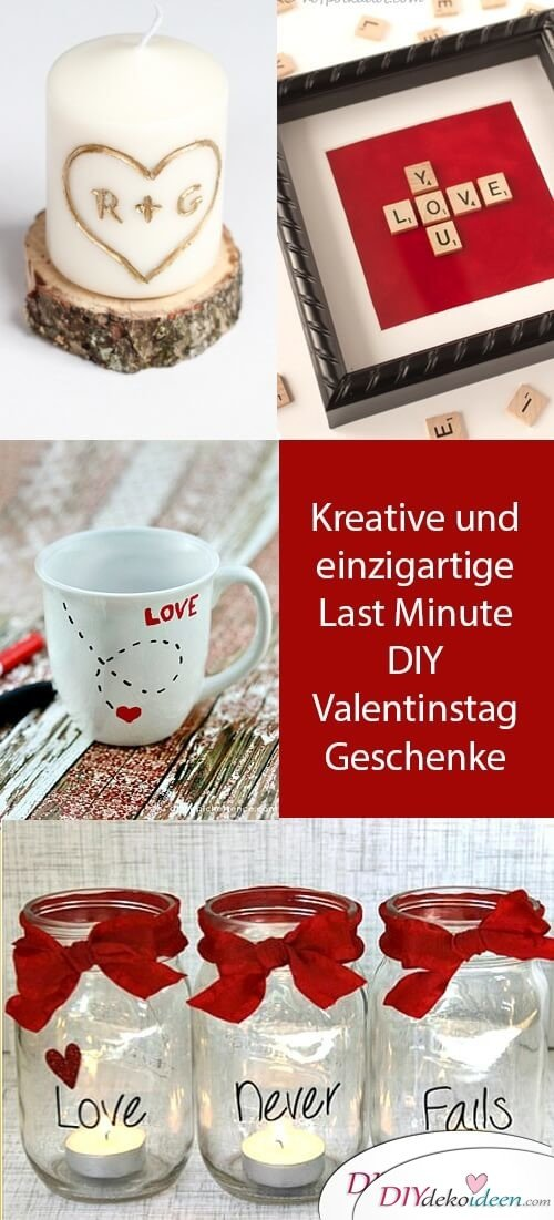 Kreative und einzigartige Last Minute DIY Valentinstag Geschenke