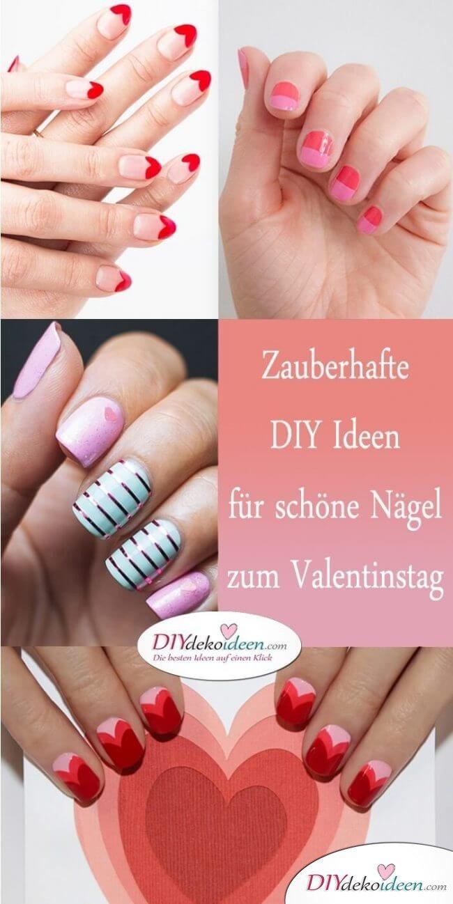 DIY Ideen für schöne Nägel zum Valentinstag