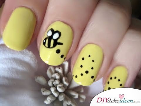 DIY Ideen für schöne Nägel zu Fasching - Bienchen-Nageldesign
