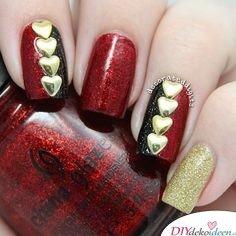 DIY Ideen für schöne Nägel zu Fasching - Herzkönigin