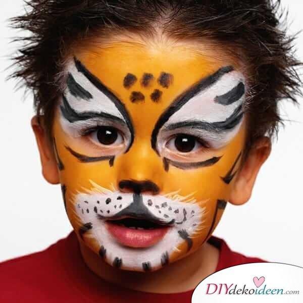Wilder Tiger - DIY Schminktipps - Ideen fürs Kinderschminken zum Karneval