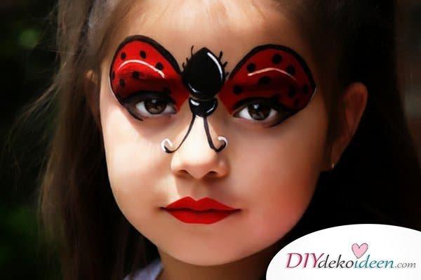 Marienkäfer- DIY Schminktipps - Ideen fürs Kinderschminken zum Karneval