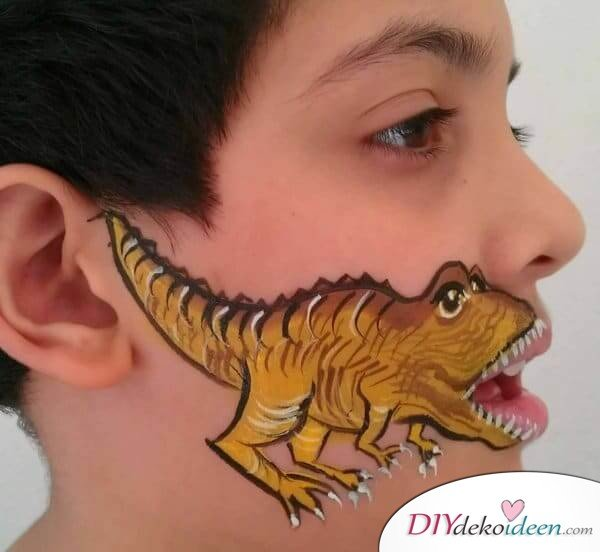 Dinosaurier - DIY Schminktipps - Ideen fürs Kinderschminken zum Karneval