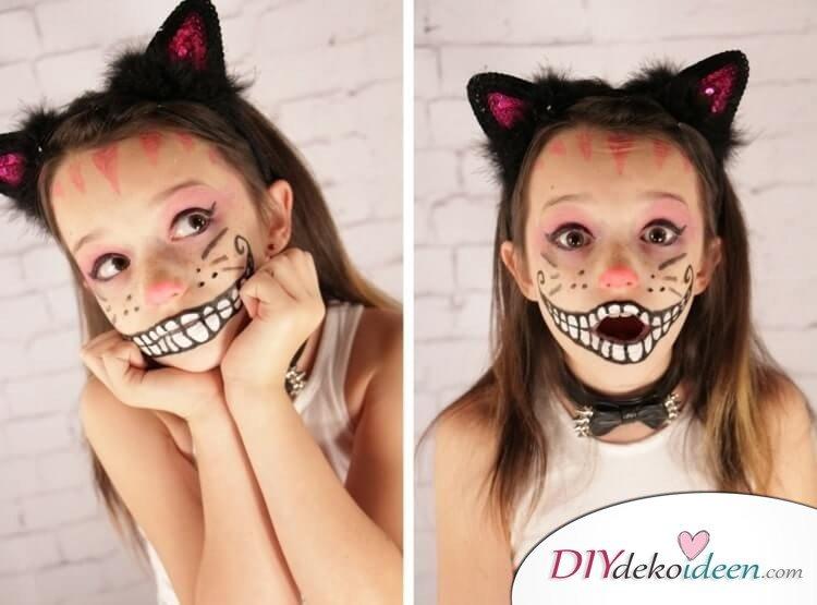 Die Grinsekatze - DIY Schminktipps - Ideen fürs Kinderschminken zum Karneval