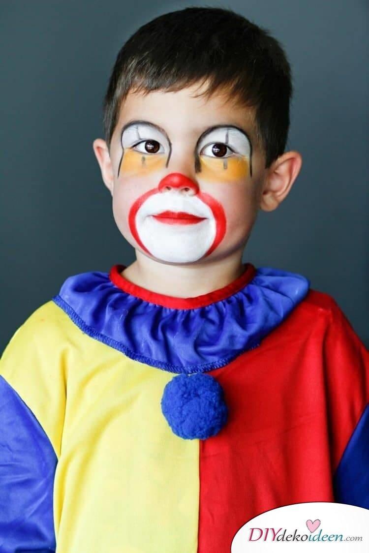 Kleiner Clown - DIY Schminktipps - Ideen fürs Kinderschminken zum Karneval
