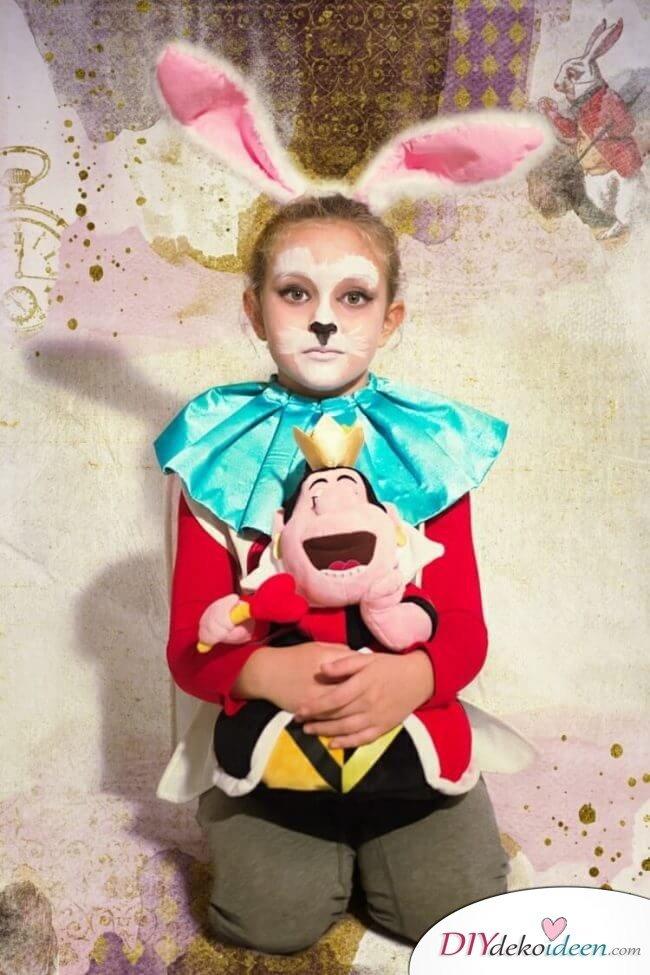 Niedliches Kaninchen - DIY Schminktipps - Ideen fürs Kinderschminken zum Karneval
