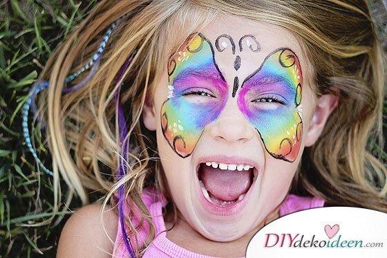 Kleiner Schmetterling - DIY Schminktipps - Ideen fürs Kinderschminken zum Karneval