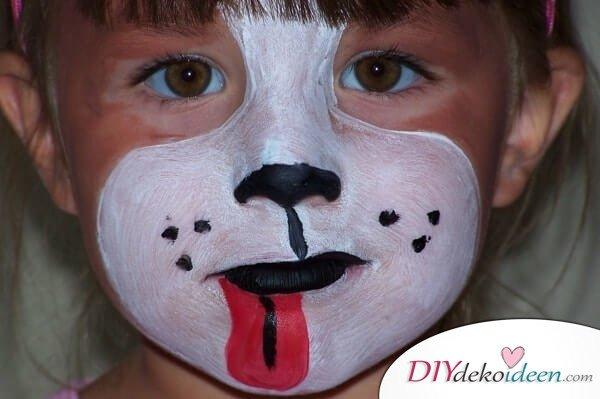 Süßer Hund - DIY Schminktipps - Ideen fürs Kinderschminken zum Karneval