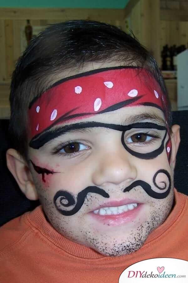 Abenteuerlustiger Pirat - DIY Schminktipps - Ideen fürs Kinderschminken zum Karneval