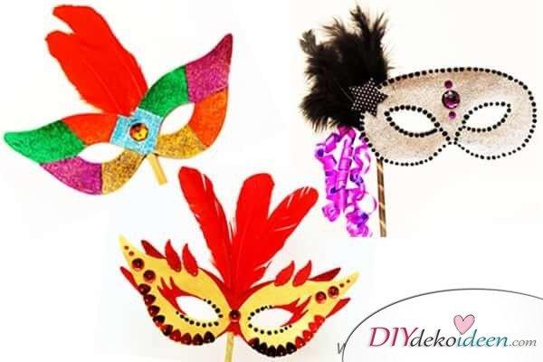 DIY Ideen für Faschingsmasken - Klassische Masken
