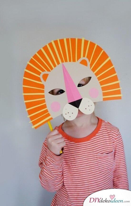 DIY Ideen für Faschingsmasken - Löwe