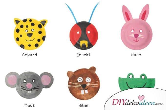 DIY Ideen für Faschingsmasken - Papptellermasken