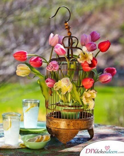 DIY Frühjahrsdeko-Ideen - Kreatives Tulpenarrangement