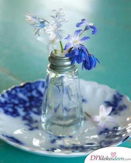 DIY Frühjahrsdeko-Ideen - Salzstreuer-Vase
