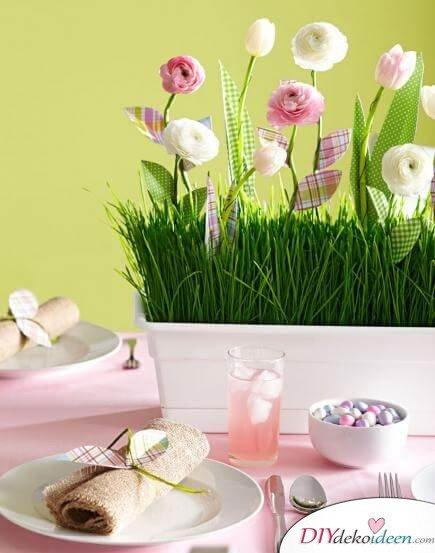 DIY Frühjahrsdeko-Ideen - Bezaubernder Tafelaufsatz